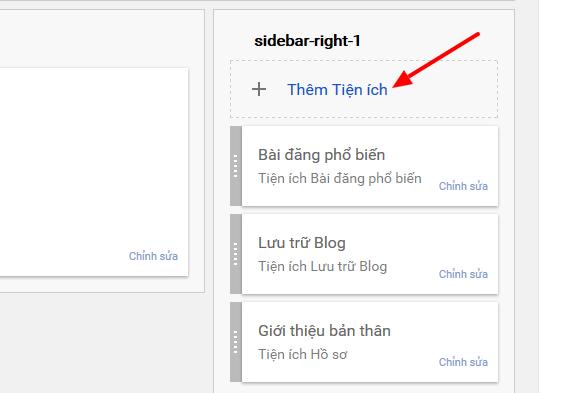 Cài đặt bố cục blog, chèn widget